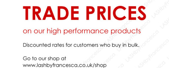 LbF Products are now available in TRADE PRICES!